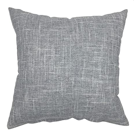 Amazon YOUR SMILE Pure Grey Square Decorative Throw Pillows