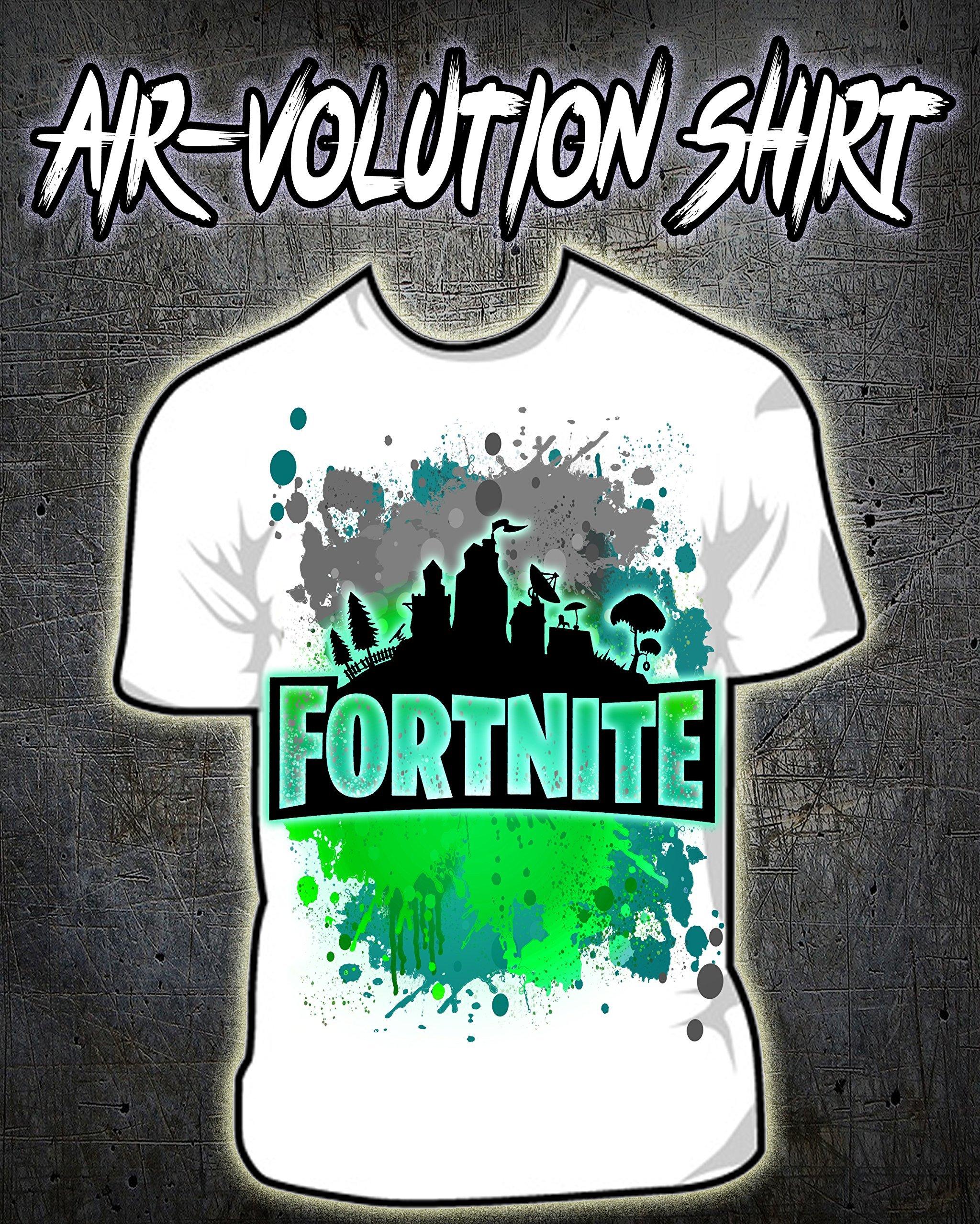 Personalized Airbrush Fortnite Logo Shirt