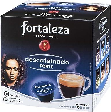 Café FORTALEZA - Cápsulas de Café Descafeinado Forte Compatibles con Dolce Gusto - Pack 4 x 12 - Total 48 cápsulas ...