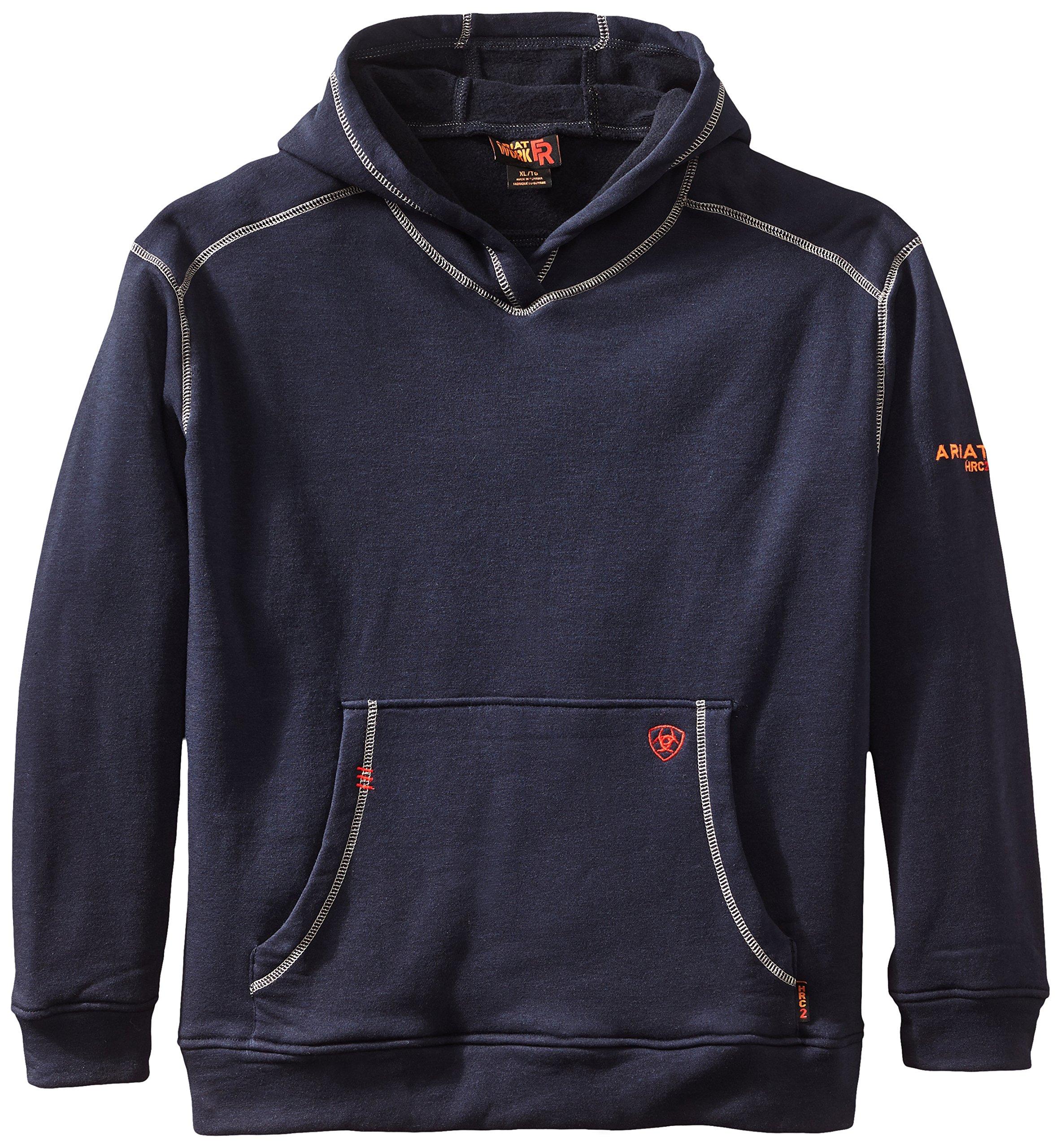 Ariat Men's Big and Tall Flame Resistant Polartec HoodieShirt, Navy, X-Large