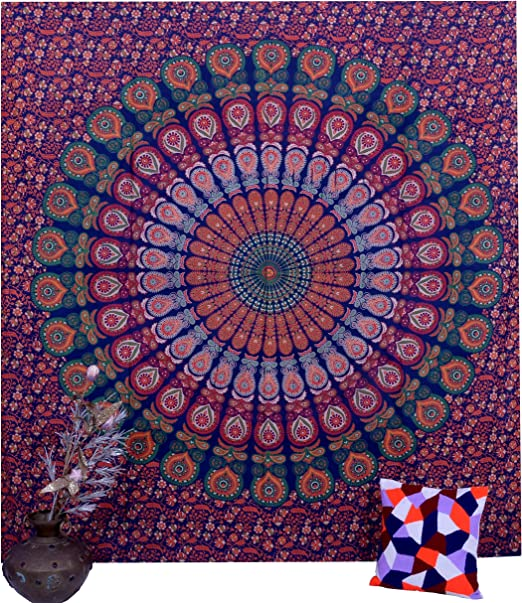 Tapestry Wall Elephant Mandala Hanging Indian Double Throw Decor Hippie Cotton