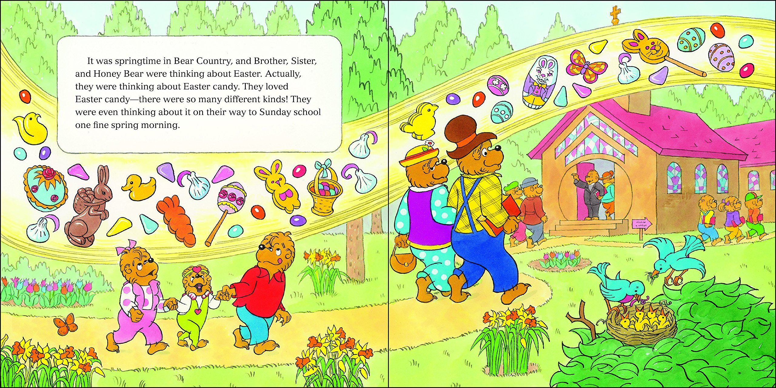 amazon com the berenstain bears and the easter story stickers
