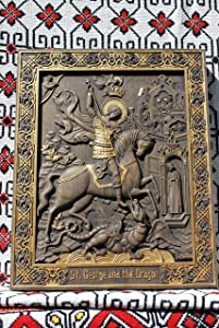 Saint George and the dragon Gifts for men christian personalized gifts gifts for dad Wood Carving religious gift for men religious home decor housewarming gifts