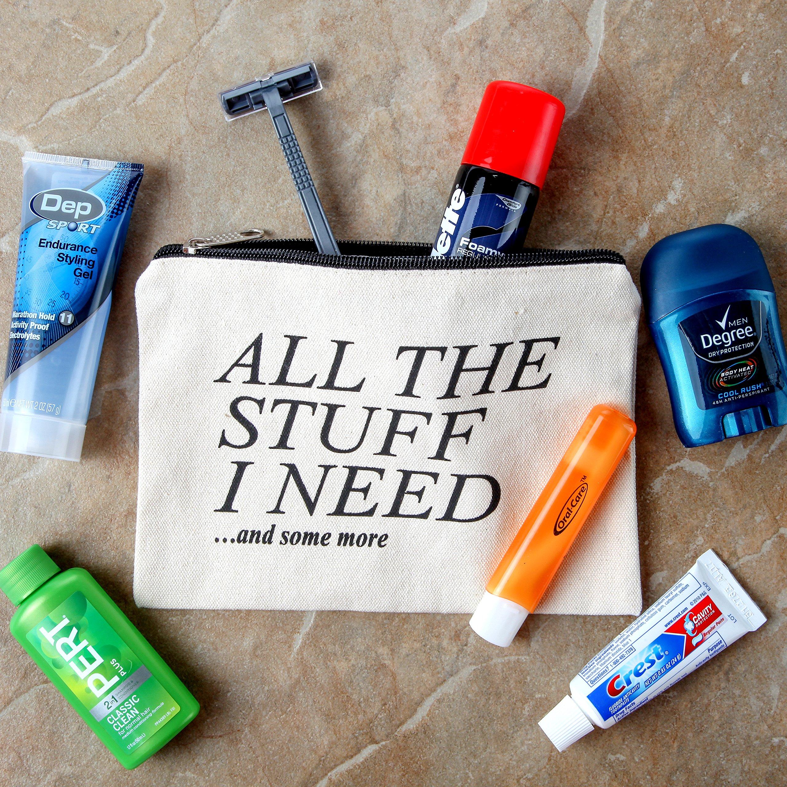 Canvas Zipper Pouch, Cotton Cosmetic Makeup Bag, Student School Art Supplies Organizer, Cute Quote Zip Cotton Pouches for Women, Holds 50 Pencil-Make Up-Toiletries-Phones-Electronics