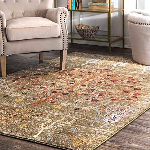 nuLOOM Lizzy Transitional Floral Area Rug