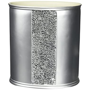 Popular Bath Waste Basket, Sinatra Collection, Silver