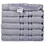 Casa Lino Large Hand Towels 6 Pack, 16
