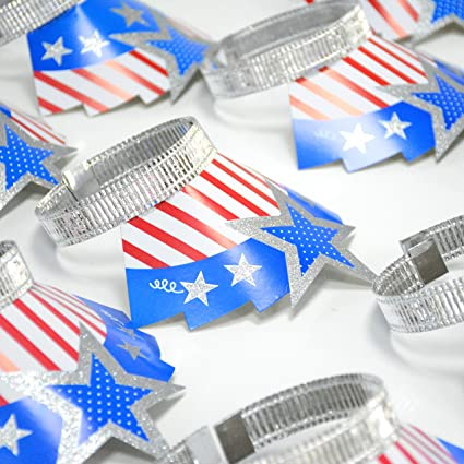 Christmas In July Party Supplies.New Year Decorations Sliver Headband Hair Clasps Patriotic Foil Tiaras Decorations For Christmas New Year Veterans Day Memorial Day Party Hats