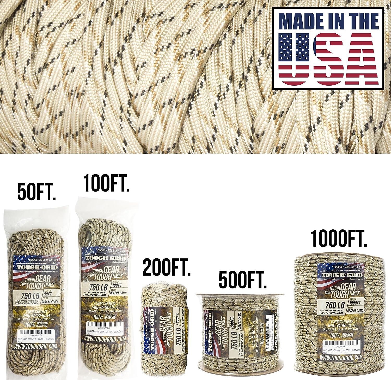 【正規品直輸入】 tough-grid 750lbパラコード/パラシュートコード – デザート迷彩 (mil-c-5040-h) 純正MilスペックタイプIV 750lbパラコード使用by the USA。 US Military (mil-c-5040-h) – 100 %ナイロン – Made in the USA。 B00I5UKT30 デザート迷彩 500Ft. (WOUND ON SPOOL) 500Ft. (WOUND ON SPOOL)|デザート迷彩, 糀和田屋:c3503407 --- a0267596.xsph.ru