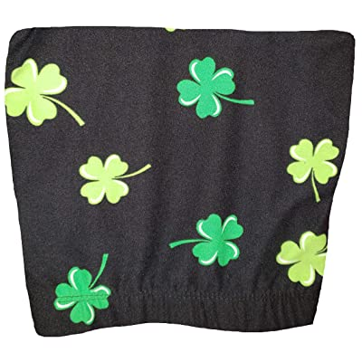 No Boundaries St. Patrick's Day Shamrock Black Super Soft Sueded Ankle Legging at Women's Clothing store