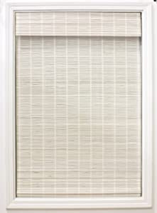 """Radiance White Bayshore Matchstick Shade-34 in. W L Bamboo Blinds, Roman, Cordless Shades, 34"""" x 64"""