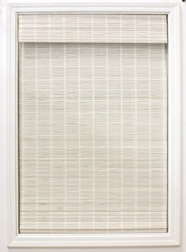 RADIANCE Cordless White Bayshore Bamboo Blinds