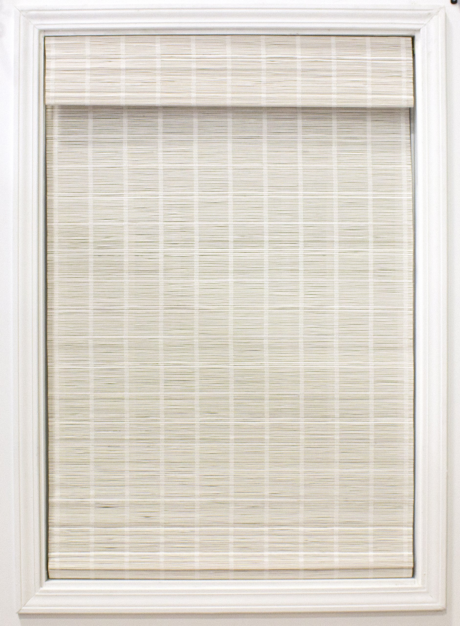 Lewis Hyman Cordless Bayshore Matchstick Bamboo Roman Shade-35 in. W x 64 in. L Bamboo Blinds, Roman, Cordless Shades, 35'' W x 64'' L, White by Lewis Hyman (Image #1)