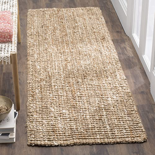 Safavieh Fiber Collection NF447N Hand-woven Chunky Textured Jute Area Rug