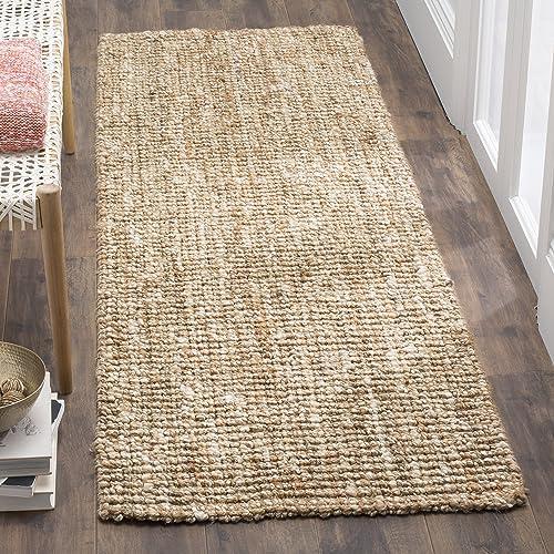 Kolekcja Safavieh Fiber Collection NF447N Ręcznie tkany dywanik z grubą warstwą teksturowanej juty