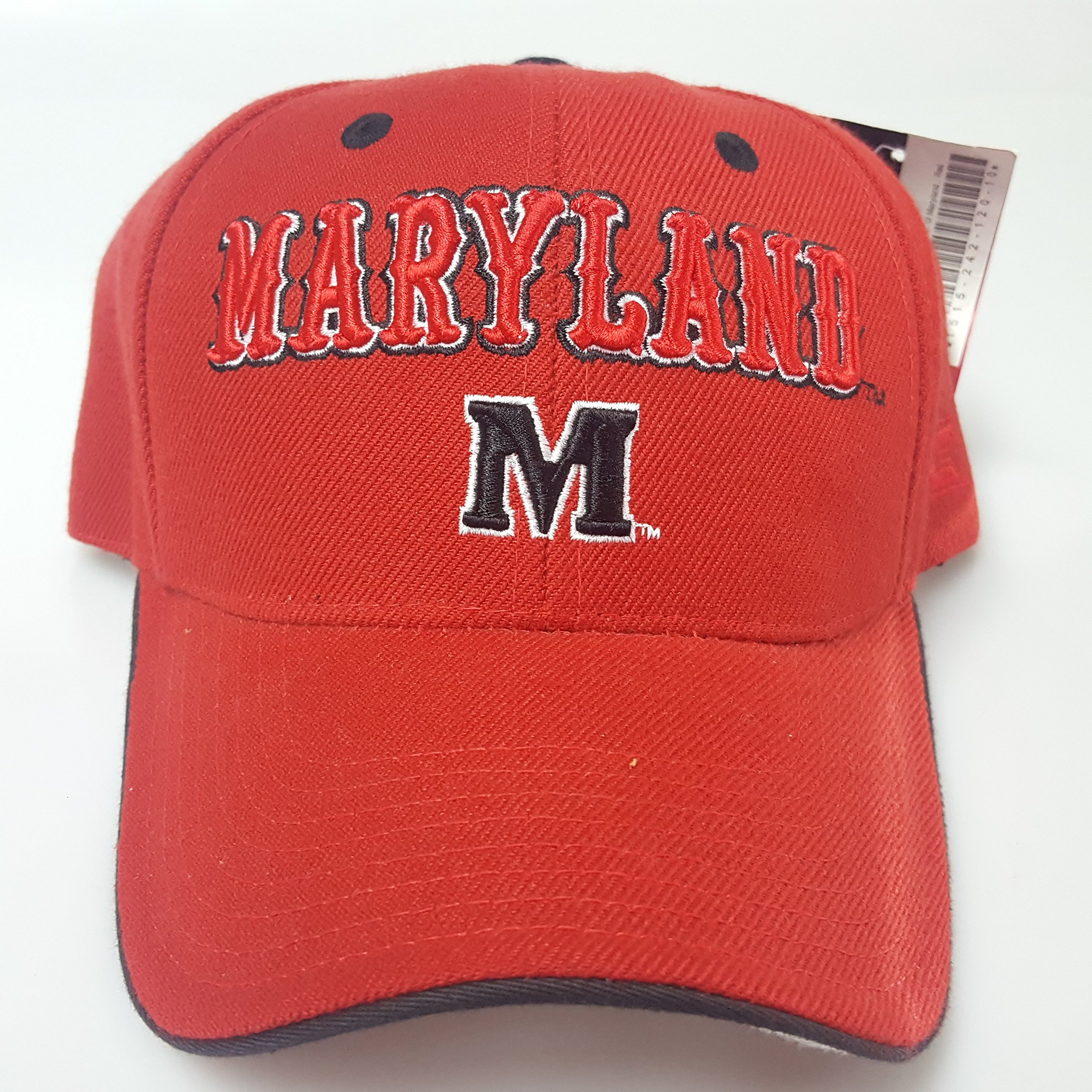 NCAA New Maryland Terps Embroidered Red Adjustable Cap