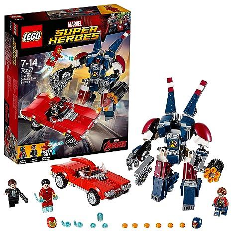 Lego Super Heroes 76077 Set Costruzioni Iron Man Lattacco Di