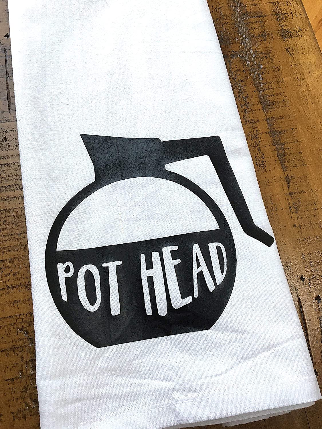Funny Coffee Kitchen Towel For Coffee Lovers Pot Head