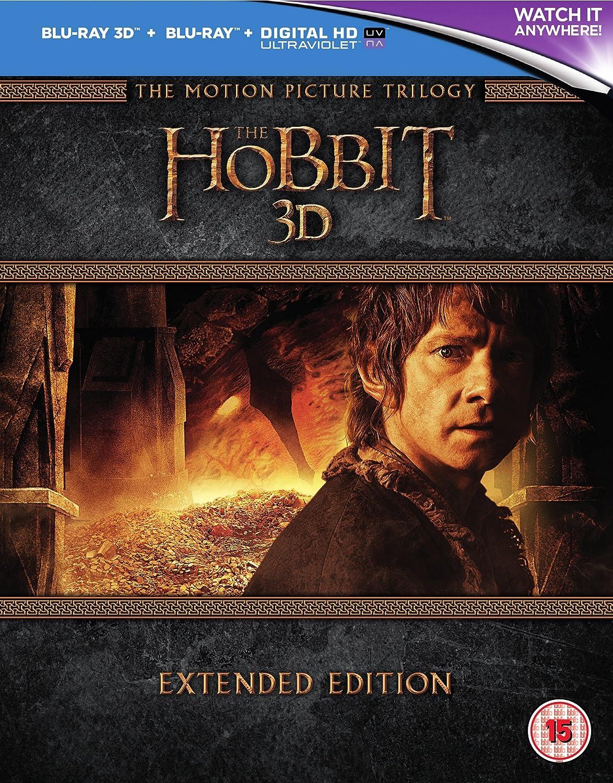 The Hobbit Trilogy - Extended Edition 3D [Blu-ray 3D + 2D] [Region Free] Martin Freeman Richard Armitage Peter Jackson MSE1317211