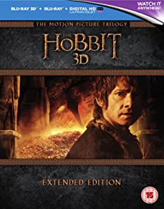 The Hobbit Trilogy - Extended Edition 3D [Blu-ray 3D + 2D] [Region Free]
