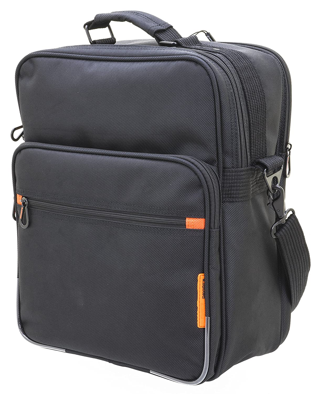 6c309b1ee0d44 Arbeitstasche im Hochformat Tasche Tasche Tasche Flugumh auml nger  Umh auml ngetasche 38x30x18 cm Schwarz Bowatex B07DX39WN2 Messenger-Bags  f23482