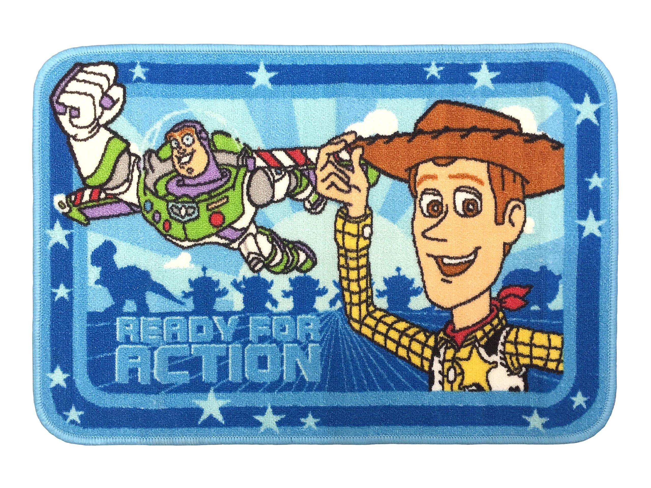 Disney/Pixar JF00526KM Toy Story Buzz and Woody Tufted Bath Rug