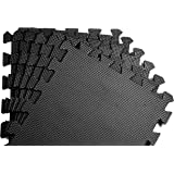 Schutzmatten Set von BeMaxx Fitness – 18 Puzzlematten | Bodenschutzmatten | Unterlegmatten | Fitnessmatten für Bodenschutz – Sport, Fitnessraum, Keller – Matten Schutz vor Dellen, Kälte, Flüssigkeit