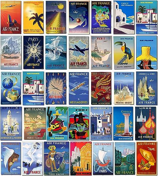 Vintage Air France Airlines equipaje etiquetas – Maleta viaje ...
