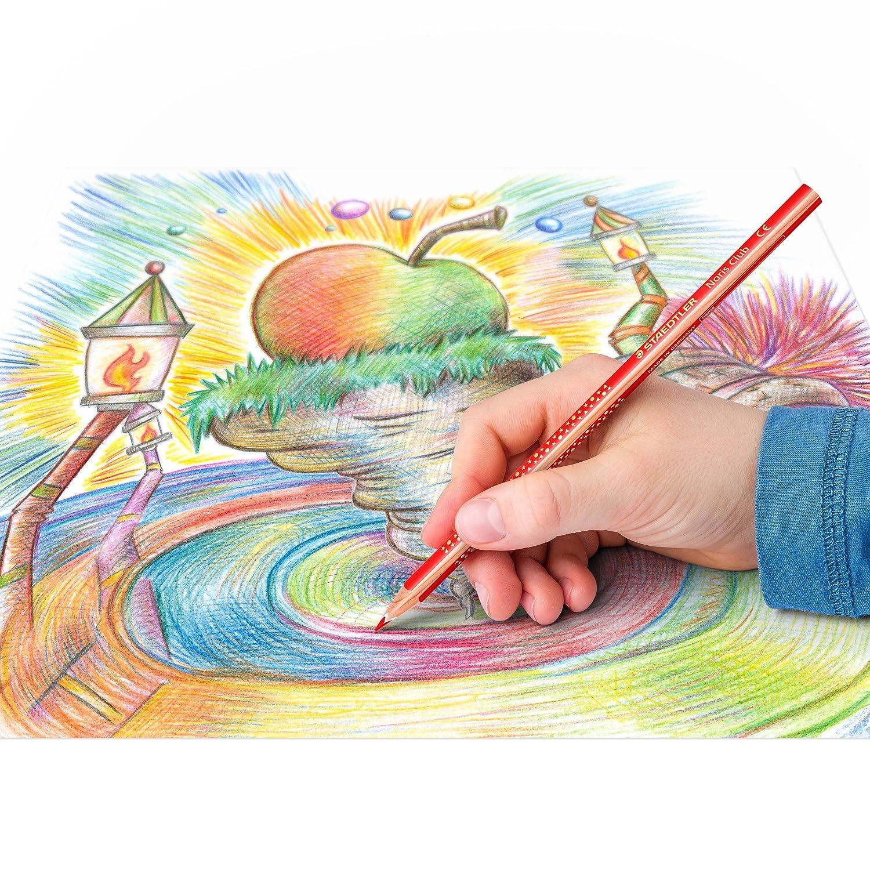 Set mit 12 brillanten Farben 4 gratis PEFC-Holz erh/öhte Bruchfestigkeit Staedtler Noris Club 127 NC12P1 Buntstifte kindgerecht nach DIN EN71