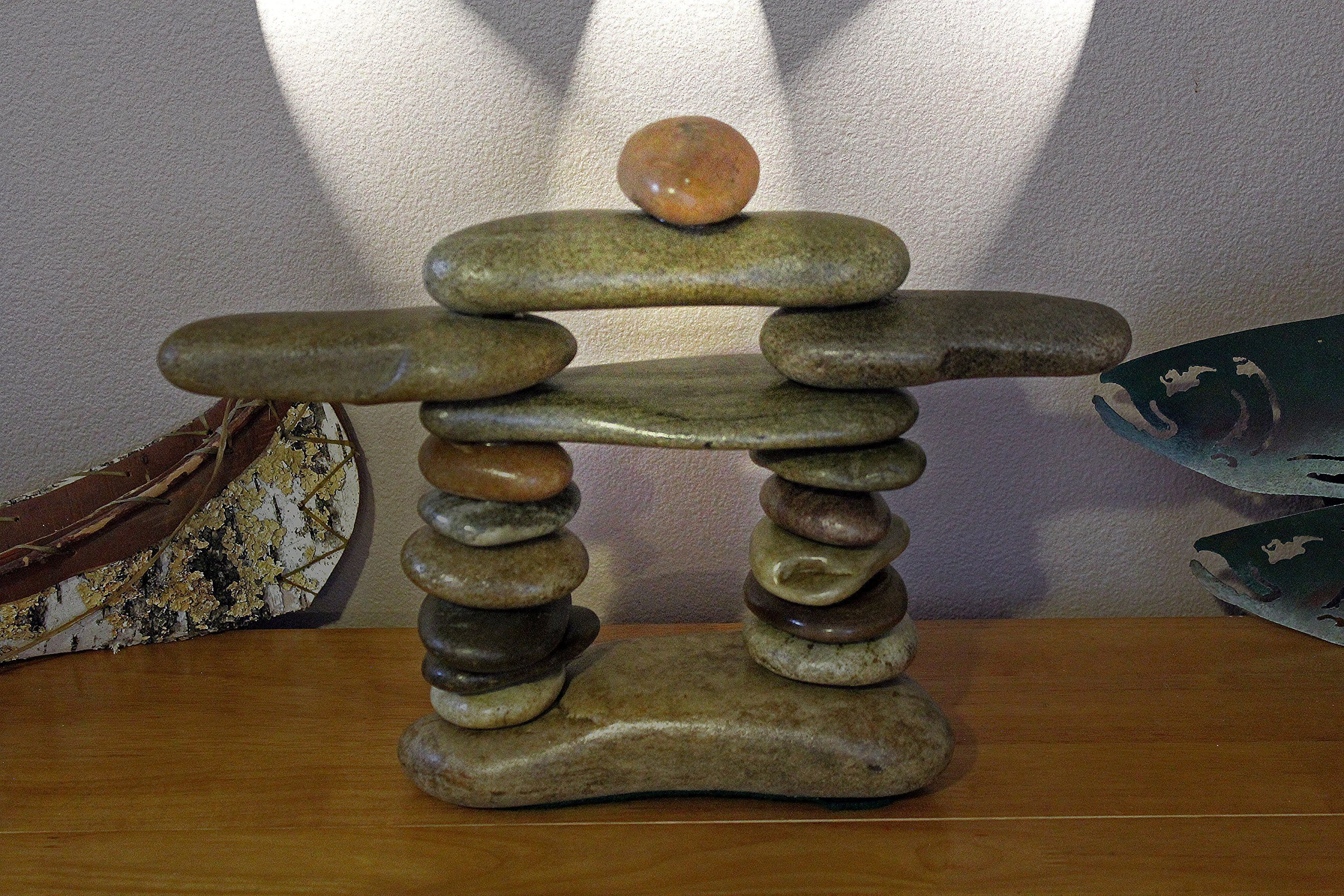 Our Large Stone Inukshuk Inspired by the Inuit People in the Alaska and Canadian Artic