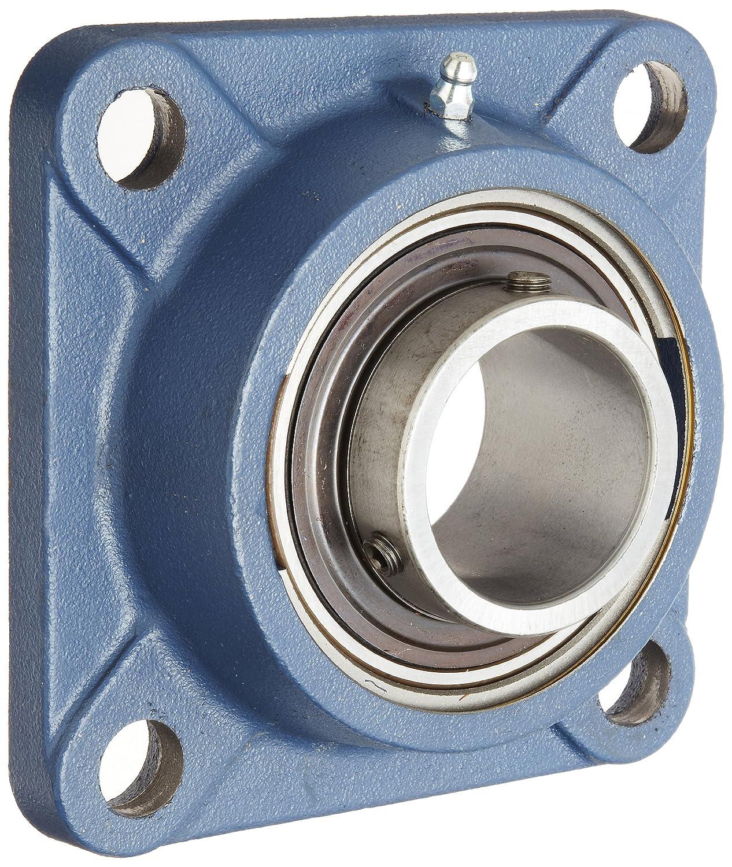 SKF fy-tf serie rodamiento de bolas brida unidad, 4agujeros, setscrew Lock, regreasable, Contacto y Flinger sellos, hierro fundido, métricas, 50 millimeters, 1