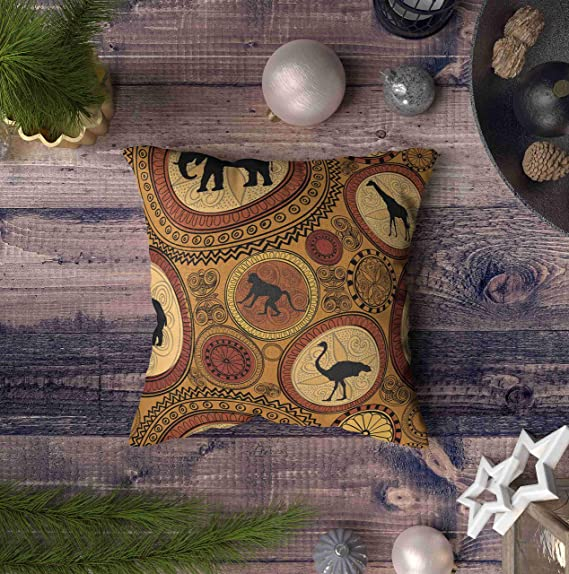 Amazon.com: ROOLAYS - Funda de almohada cuadrada decorativa ...
