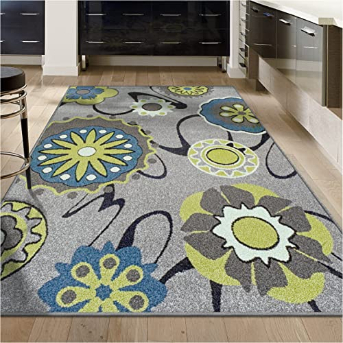 Superior Lana Collection, 6mm Pile Height with Jute Backing, Quality and Affordable Area Rugs, 5 x 8 Grey