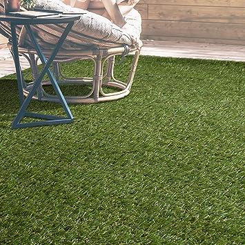 iCustomRug Indoor/Outdoor Artificial Grass Shag, 5u0027 by 7u0027, ( Fade