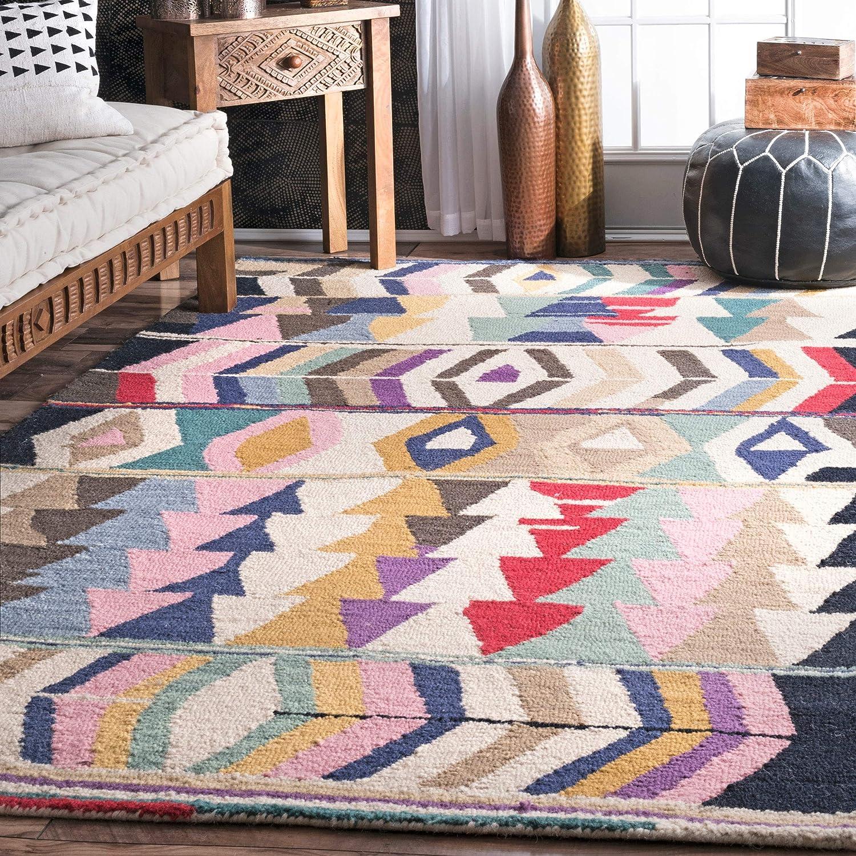 Amazon Com Nuloom Ofelia Hand Tufted Wool Area Rug 9 6 X 13 6 Multi Furniture Decor