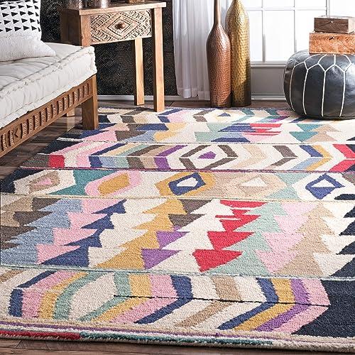 nuLOOM Ofelia Hand Tufted Wool Rug, 7 6 x 9 6 , Multi