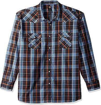 Dickies - Camisa Vaquera de Manga Larga para Hombre, Ajuste Relajado, Talla Grande, Color Azul enjuagado y Naranja, Talla 3X: Amazon.es: Ropa y accesorios