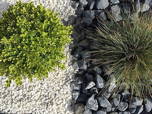ClassGarden - Gravilla para Barbacoa (25 M2, Calibre 8-12 mm), Color Blanco: Amazon.es: Jardín