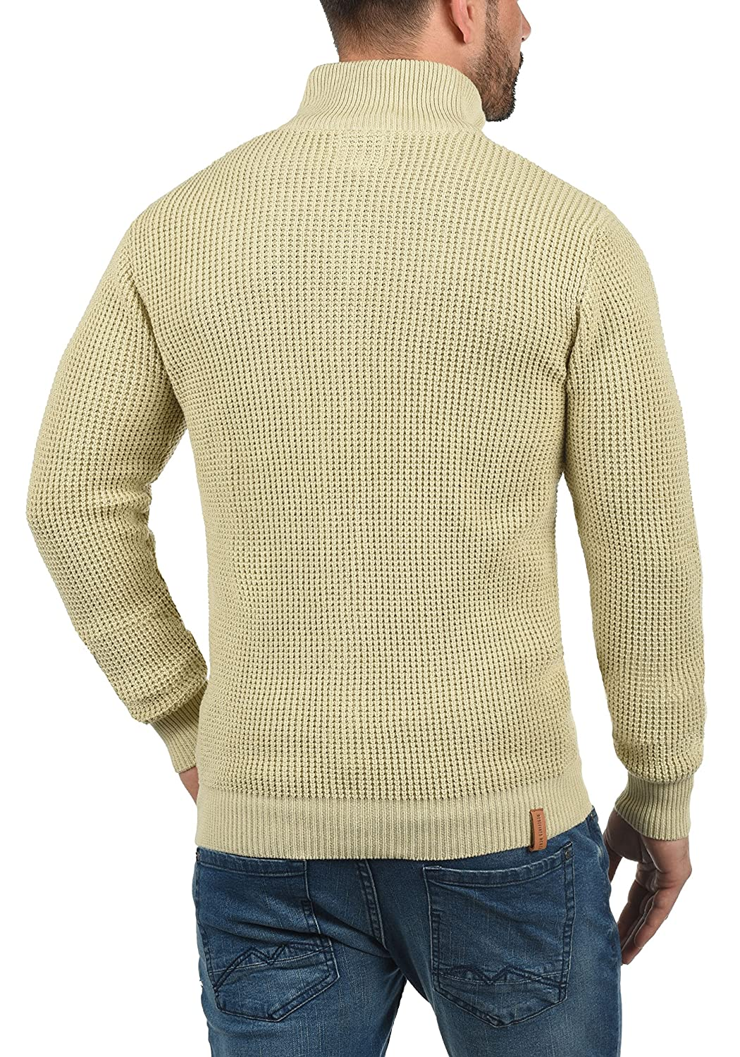 Redefined Rebel Mongo Mens Cardigan Chunky Knit Jacket with Funnel Neck Made of 100/% Cotton