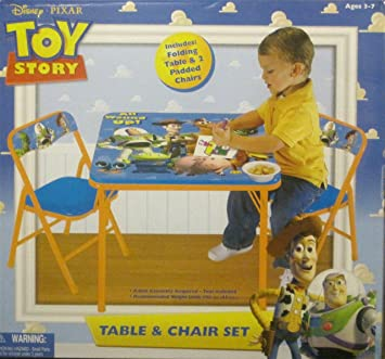 Disney Pixar Toy Story Kidu0027s 3-Piece Folding Table and Chair Set  sc 1 st  Amazon.com & Amazon.com : Disney Pixar Toy Story Kidu0027s 3-Piece Folding Table and ...
