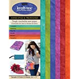 "kraft-tex Sampler 6-Colors Hand-Dyed & Prewashed: Kraft Paper Fabric, 6-Sheets 8.5"" x 11"" (kraft-tex Designer)"
