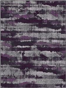 "Brumlow Mills EW10005-40x60 Gaines in Purple Contemporary Area Rug, 3'4"" x 5',"