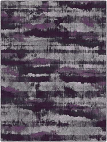Brumlow Mills Gaines In Purple Contemporary Area Rug, 5 x 8