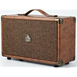 GPO Westwood 25 watt Speaker with Subwoofer, RCA input and Bluetooth - Brown