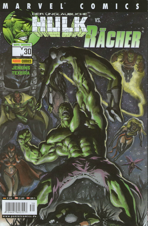 Marvel Comics CROSSOVER # 30 - Der unglaubliche Hulk VS. Die Rächer - Comic (Marvel, Superhelden, hulk, Rächer)