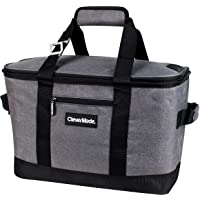 CleverMade Collapsible Cooler Bag: Insulated Leakproof 50 Can Soft Sided Portable Cooler Bag for Lunch, Grocery Shopping…