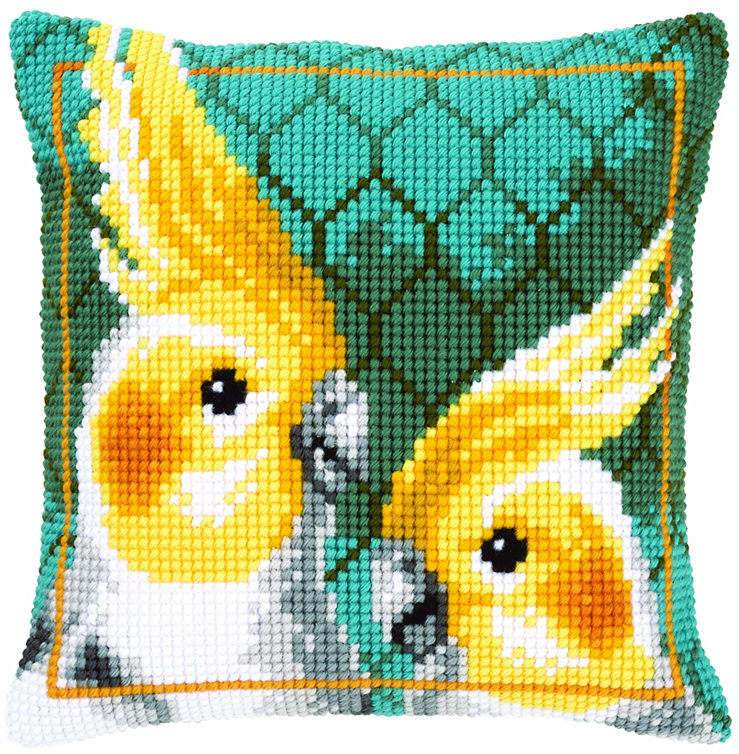 Vervaco Cockatiels Cushion Cross Stitch Kit