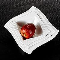 MALACASA, Serie Amparo, 3 Piezas Vajillas de Porcelana