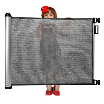 Amazon Com Retractable Baby Gate Extra Wide Baby Safety Gate And