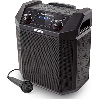 ION Audio Block Rocker Plus Portable Battery Powered Speaker with Bluetooth Connectivity.